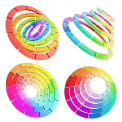 Color range spectrum circle round palette
