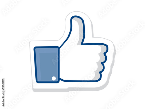 Like us, thumb up