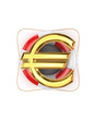 Sign of euro on lifebuoy.