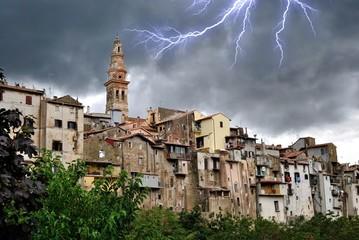 Veduta di Poli - Roma - Lazio - Italia - Temporale