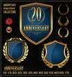 Anniversary design element collection blue edition