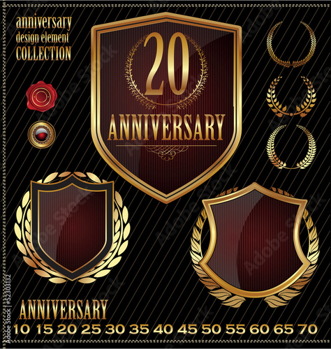 Anniversary design element collection red edition