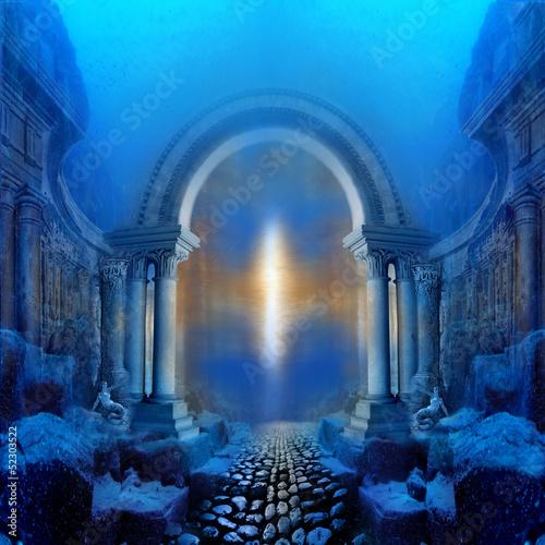 Leinwanddruck Bild Way to Atlantis