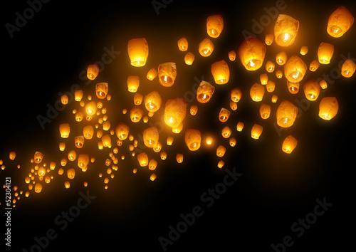 Flying Chinese Lanterns