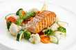 A Tasty Food .Grilled Salmon A...