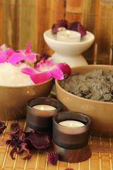 Mud and marine salt for spa