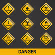 Vector illustration set label danger