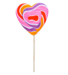 Heart candy on a stick(lollipop)