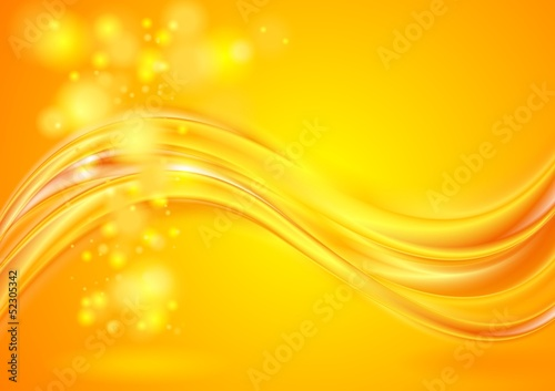 Bright yellow wavy background
