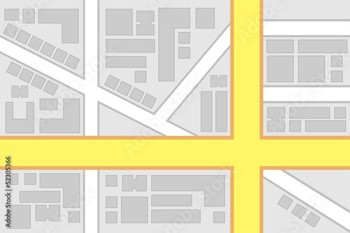 City Map Main Roads Intersection