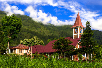 Catholic Church Samosir Island.