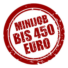 stempel rund minijob bis 450 euro I
