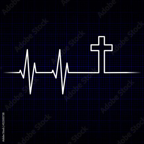 kardiogramm herzschlag kreuz I