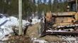 Bulldozer at a work site