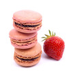 Macaroons, strawberry