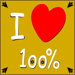 IO AMO 100 %