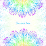 Bright rainbow vector peacock feathers background
