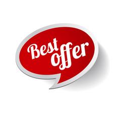 Red Best offer label