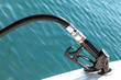 Leinwanddruck Bild - Diesel Pump Nozzle Refilling Boat