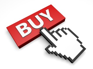 online shopping - buy 3d button