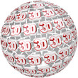 3D Word on Ball Sphere Three Dimensional Effect