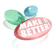Make It Better Vitamin Pill Supplements Improve Increase Results
