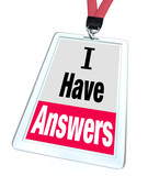 I Have Answers Badge Employee Expert Knowledge Help