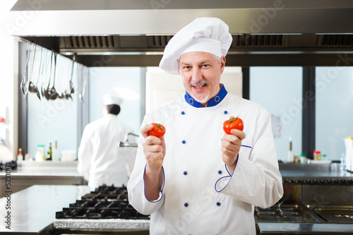 Portrait of a chef in his kitchen