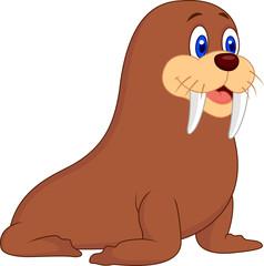 Cute walrus cartoon