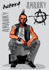 punk,rebelle,guerrier,voyou,marginal,visage,personnage