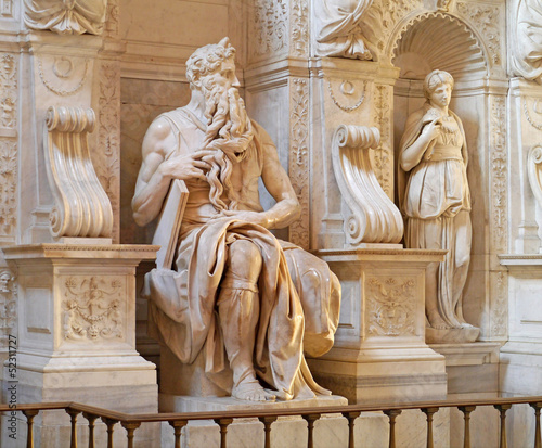 Marble statue of Moses by Michelangelo