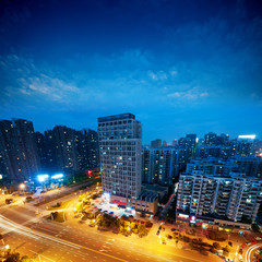 Bird view at Wuhan China