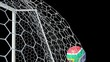 South Africa Ball Scores in Slow Motion with Alpha Channel