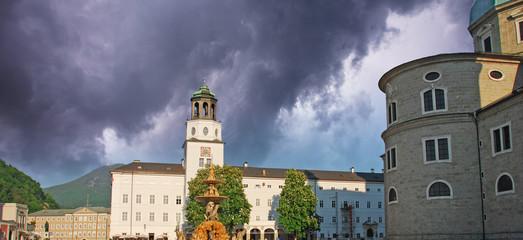 Storm approaching Salzburg, Austria