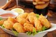 Coconut shrimp closeup