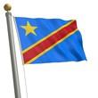 Die Flagge von Demokratische Republik Kongo am Fahnenmast