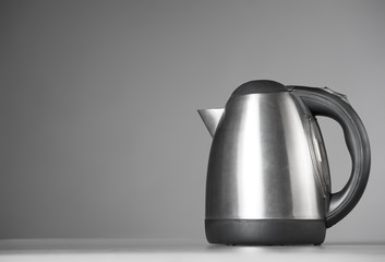 Kitchen Kettle on a gray background