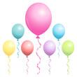 Birthday Balloons Pastel