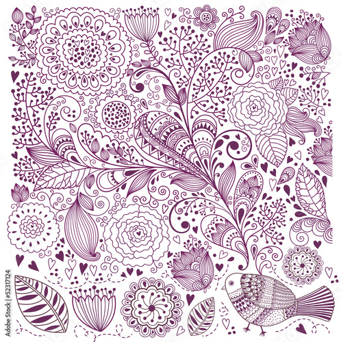 Beautiful vector floral background