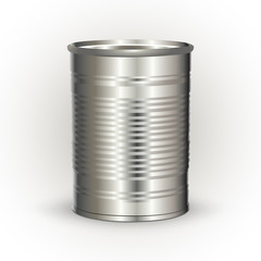 Vector illustration of a tin can
