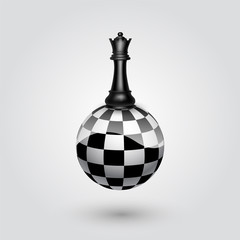 Chess black queen