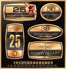 Anniversary Golden label - set