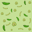 Vector background with cucumber