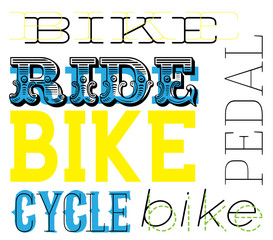 A bright and bold cycling text design