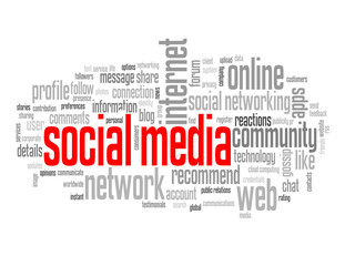 """SOCIAL MEDIA"" Tag Cloud (like recommend share follow network)"