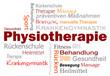 Leinwanddruck Bild - Physiotherapie Wörter Text