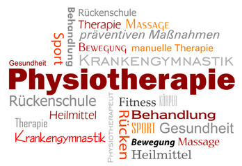 Physiotherapie Wörter Text