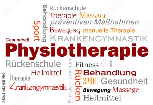 Leinwanddruck Bild Physiotherapie Wörter Text