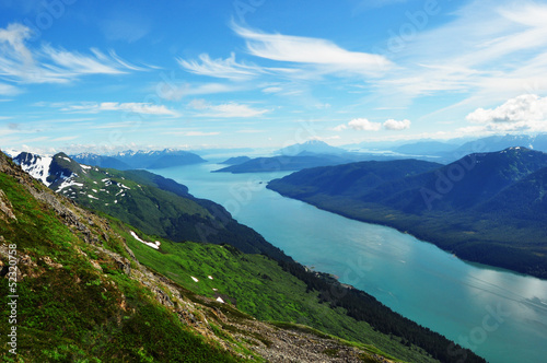 Gastineau Channel View from Mt Roberts Juneau Alaska