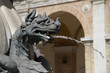 Details of a fountain with sea dragons